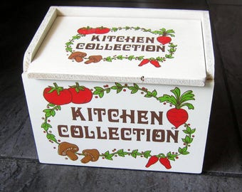 Kitchen Collection Recipe Wooden Box - Made in Japan
