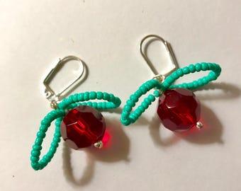 Luna Lovegood Red Radish Earrings Dirigible Plums Harry Potter Hogwarts