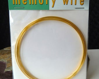 Necklace Memory Wire - Gold Plated Memory Wire - 3.6 Inch Diameter - 12 Necklace Loops