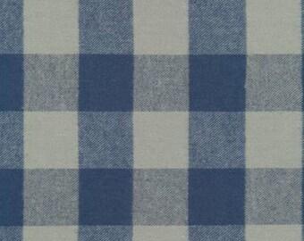 Blue and Grey Robert Kaufman Tahoe Plaid Flannel, 1 Yard