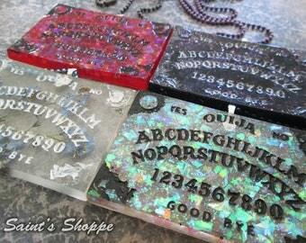 Ouija Board Charms - Fire Opal, Galaxy, Flowers, White Opal / Necklace or Keychain