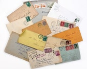 Old Envelopes for Collage & Decoupage