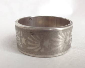 Size 7 Shooting Star Sterling Ring Band