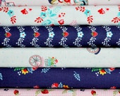 Vintage Market Main Pink 6 Fat Quarters Bundle by Tasha Noel for Riley Blake, 1 1/2 yards total