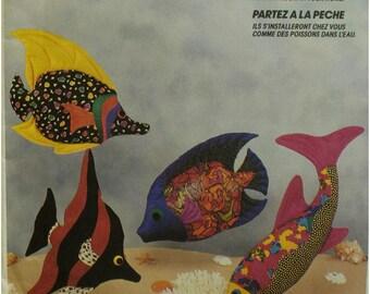 "Tropical Fish Pillows Pattern, Four Styles, Stuffed Toys, Home Decor, Lori Kaye Design, McCalls No. 5930 UNCUT Size 15-20"" (38-51cm)"