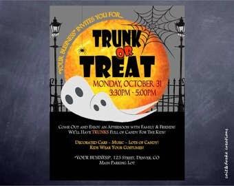 Halloween Trunk or Treat Flyer Digital Printable