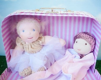 Luxury kit, My first Fabiluli, suitcase, doll and baby doll, waldorf, babies