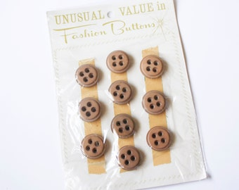 Vintage Buttons, wood, 10