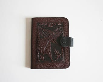 SALE Tooled Leather Fairy Notebook holder