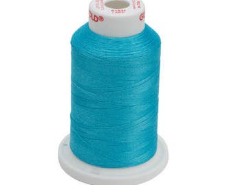 Polyester 40  Machine  Embroidery Thread | 61437 Light Caribbean Blue | Aqua Teal Green Blue