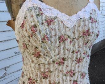 Lacy Knit Slip Dress
