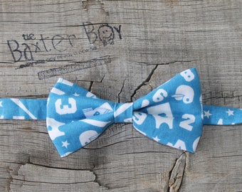 Ball sports bow tie for  little boys - photo prop, ring bearer, wedding