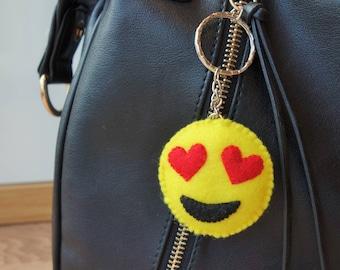 Emoji Keyring - Heart Eyes