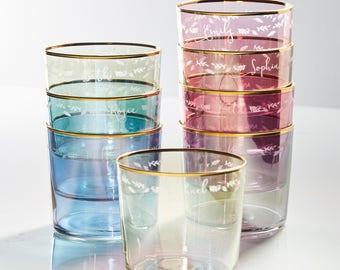 Botanical Personalised Glass