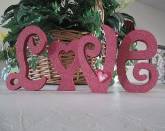 Love, Wooden Valentine Decor, Valentine Decor, Valentine Decoration, Love, Valentines Day