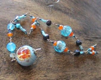 WIre Wrapped Vintage Bead Talisman - Charm