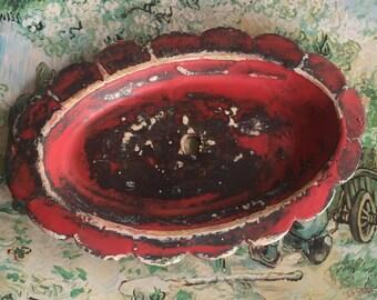 Vintage Brass Bobeche Flower Cup Bobeche - Homemade Verdigris Assembalge Supply