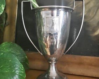 Vintage Silver Plate Cruise Line Souvenir Golf Trophy