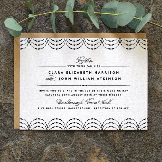 Gallery Minimalist Wedding Invitations: Modern Minimalist Wedding Invitation / 'Coco' By