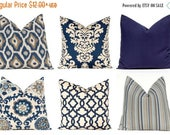 30% Off Sale Navy Blue Pillow Covers - Decorative Throw Pillow Covers - Navy Blue Cushion Covers - Blue Pillows - Solid Navy Pillow Covers