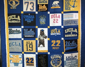 Custom Quilt made from T-shirt  - Deposit - FREE SHIPPING