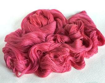Leah. Silk / Cotton Lace Yarn.  Fizzing Roses