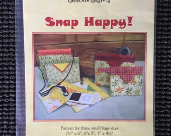 Snap Happy! Small Bag Sewing Pattern Stitchin Sisters 3 Sizes