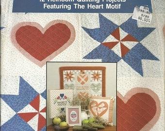"""Vintage Plaid Enterprises """"Quilted Hearts""""  Quilt Book"""