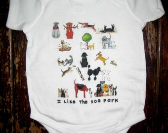 Dog Park Baby Bodysuit