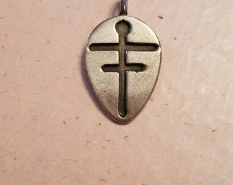 Vintage Sterling Silver Cross Pendant 925