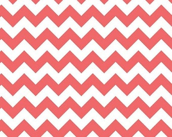 On Sale Riley Blake Fabric - 1 Yard of Small Chevron in Rouge