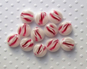 Fused Glass Mini Cabochons - Lampwork Beads - Dichroic Glass - Fused Glass - Findings - Glass Beads - Stained Glass 3028