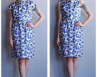 1950s Dress // Suzy Perette Blossoming Floral Silk Dress & Blouse // vintage 50s 2pc dress