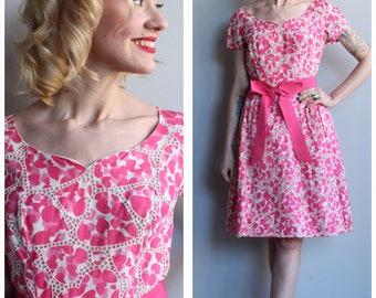 1960s Dress // Sweetheart Dance Dress // vintage 60s dress