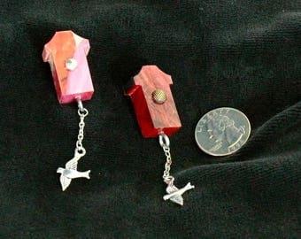 OOAK Birdhouse Magnet Set, Handmade, from Bluebird Creations, Item #2204