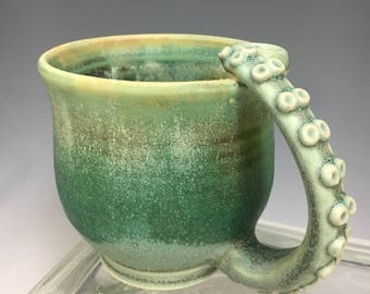 OCTOPUS Handmade Pottery Coffee Mug Reserved For CHRISTINE