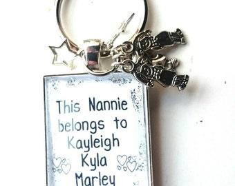 Grandma/Grandad/Nan/Nannie/Nanny 'my heart belongs to you' Glass Tile Key Ring - Gorgeous Keepsake