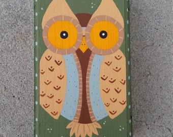 Hand Painted Owl Treasure / Gift Box
