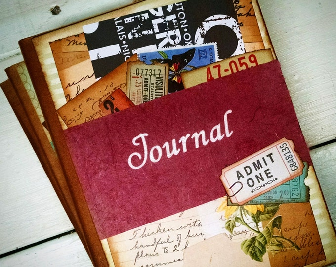 Featured listing image: Journal Notebook Sketchbook Art Journal Keepsake with Unlined Pages