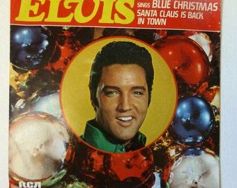 1977 Blue Christmas Elvis Presley  45 RPM  With Sleeve 447 0647