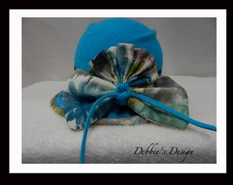 Women's Handmade Cloche Hat-503 Women's Felted Cloche Hat, Shabby Chic Cloche Hat, Accessories, Handmade, Cloche Felt Hat, Downton abbey,