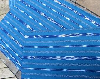 Guatemalan Ikat Fabric in Turquoise