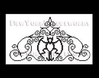 Haunted Mansion Bat Gate Cross Stitch, Haunted Mansion Cross Stitch Pattern, Disney Cross Stitch  Patterns, Silhouettes, NewYorkNeedleworks