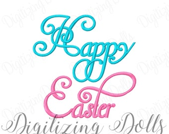 Happy Easter #4 Machine Embroidery Design 4x4 5x5 6x6 7x7 8x8 INSTANT DOWNLOAD