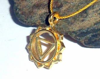 Solar Plexus Chakra Vermeil Necklace earthegy #2292