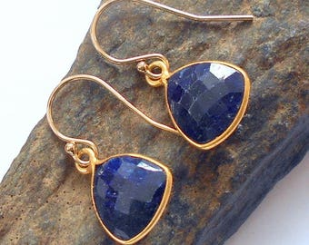 Sapphire Gold Earrings earthegy #2919