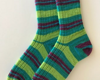 Hand Cranked Regia Ladies' Wool Socks, Drive Color