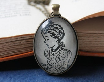 Betsy Tacy book jewelry - Maud Hart Lovelace book necklace - literary jewelry - vintage book club gift
