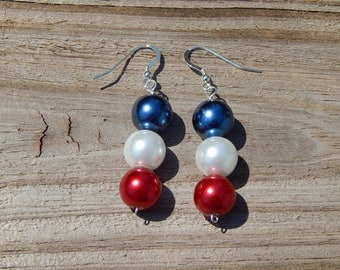 Red, White & Blue Pearls for America!!!!
