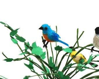 Authentic Feathered wild Blue Bird OOAK